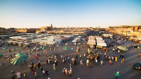 Djemaa el Fna Square in Marrakech Timelapse stock video