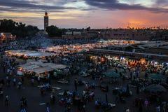 Djemaa el Fna square. Marrakesh. Morocco Stock Image