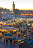 Djemaa el-Fna square at night 2. Djemaa el-Fna square, nightly food market. famous tourist attraction in marrakech 2 royalty free stock photos