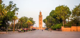 Djemaa el-Fna square at sunrise Royalty Free Stock Photography