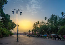 Djemaa el-Fna square at sunrise Stock Photos