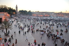 Djemaa El Fna square view Stock Image