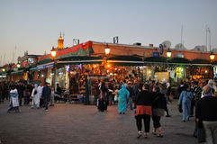 Djemaa El Fnaa square in Marrakesh Royalty Free Stock Photos