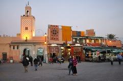 djemaael-fna marrakesh Arkivbilder