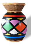 Djembe. Isolated colored djembe on a white background Royalty Free Stock Photography