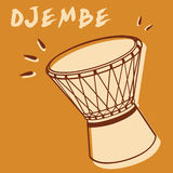 Djembe stock illustratie