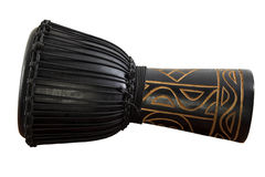 Djembe. African percussion. Wooden drum. Royalty Free Stock Photo