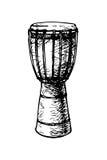 Djembe africano Imagen de archivo