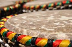 djembe afrykańscy bębeny Zdjęcia Stock