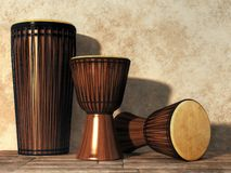 Djembe And Djun Drums royalty free illustration