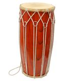 Djembe drum. Isolated on white Stock Photography