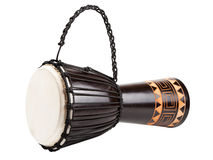 Djembe drum, isolated Royalty Free Stock Images