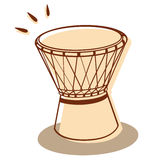 Djembe isolated Royalty Free Stock Images