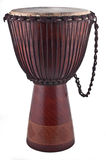 Djembe Isolated On White. Close up of the djembe isolated on white background royalty free stock photo