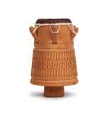 Djembe, Surinam percussion, handmade wooden drum with goat skin Royalty Free Stock Photo