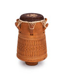 Djembe, Surinam percussion, handmade wooden drum with goat skin Royalty Free Stock Photography