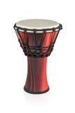 Djembe - tamburo di legno etnico immagine stock
