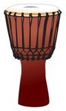Djembe - tamburo di percussione del tamtam Immagine Stock