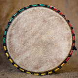 Djembe top view Stock Photo