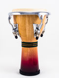 Djembe on white background. Royalty Free Stock Photography