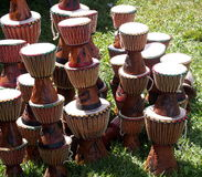 Djembes On Grass Royalty Free Stock Image
