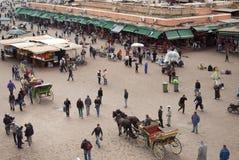 Djemma el fna正方形在马拉喀什(摩洛哥) 免版税库存图片