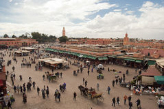 Djemma el fna Square in Marrakech (Morocco) Royalty Free Stock Image