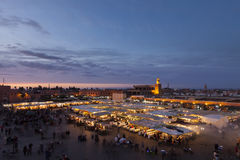 The Djemma el fna square in Marrakesh Royalty Free Stock Images