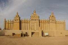 Djenné, ciudad africana del fango fotografía de archivo libre de regalías