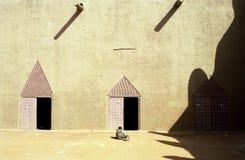 djenne极大的马里清真寺 库存照片