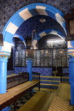 Synagogue Interior - Djerba Ghriba, Jewish Faith, Travel Tunisia Royalty Free Stock Image