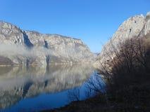 Djerdap峡谷/河多瑙河 库存图片