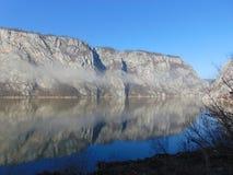 Djerdap峡谷/河多瑙河 库存照片