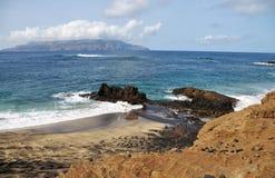Djeu, пляж и волны Стоковые Фотографии RF