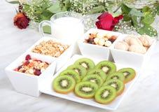 Déjeuner de nourriture biologique Photos libres de droits