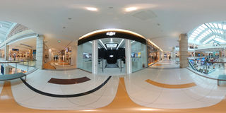 DJI Authorized Store interior in Metropolis Mall. Moscow, Russia - April 5, 2017: 360 degree panorama of DJI Authorized Store interior in Metropolis Mall Royalty Free Stock Photography