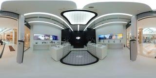 DJI Authorized Store interior in Metropolis Mall Royalty Free Stock Photo