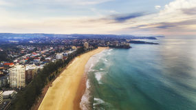 DJI Manly beach 2 north Royalty Free Stock Photography