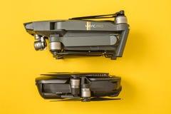 DJI Mavic Air and Mavic Pro drones Stock Photo
