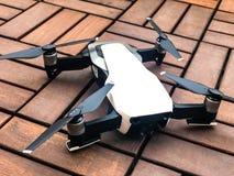DJI - mavic air portable drone. Dji Mavic Air - a portable drone 12MP/4K HDR 3 axis gimbal camera sensors view stock image