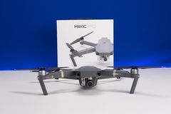 DJI Mavic Pro drone Closeup, One of the most portable drones in the market stock image