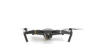 DJI Mavic Pro drone in flight, on white background. royalty free stock images