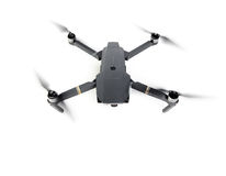 DJI Mavic Pro drone in flight, on white background. royalty free stock photo