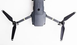DJI Mavic Pro drone: ISRAEL, OCTOBER 2, 2017. Closeup, on white background. One of the most portable drones in the market. With 4k ultra hd stock photo