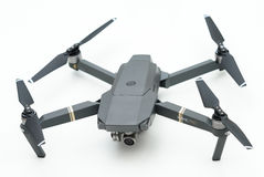 DJI Mavic Pro drone. KAUNAS, LITHUANIA - MARCH 1, 2017: DJI Mavic Pro quadcopter on white background. The Mavic is a new drone design by DJI, which is more Stock Photos