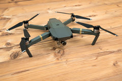 DJI Mavic Pro drone: Riga,Latvia DECEMBER 25,2016. One of the first DJI Mavic Pro drones shipped to Europe. royalty free stock image