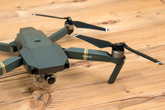 DJI Mavic Pro drone: Riga,Latvia DECEMBER 25,2016. One of the first DJI Mavic Pro drones shipped to Europe. One of the most portable drones in the market,with stock images