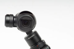DJI OSMO. KUALA LUMPUR, MALAYSIA - JUNE 7, 2016: DJI has launched OSMO, an integrated 4k camera with a 3-axis stabilizer that can be connected to a smartphone royalty free stock image