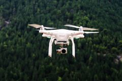 Dji Phantom on Air in Selective Focus Photography Royalty Free Stock Image