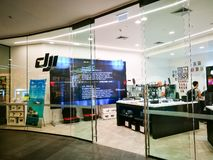 DJI Store Drones, aerial photography systems Gimbals, Camera Stabilizers and Accessories. the image of shopfront at shopping mall. SYDNEY, AUSTRALIA. – On stock images